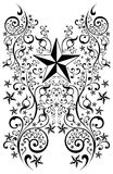 Stars tribal art illustration - tattoo - vector. Stars tribal art illustration - tattoo isolated on white,  vector format available Royalty Free Stock Photos