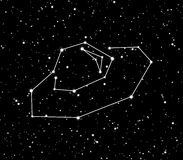 Stars ufo constellation background. Ufo background with the shine stars in universe Stock Image