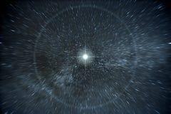Stars a urdidura de tempo Foto de Stock Royalty Free