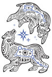 Stars of Ursa Major Royalty Free Stock Photography