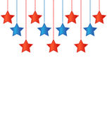 Stars in US colors Royalty Free Stock Photo