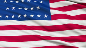 29 Stars USA Close Up Waving Flag. 29 Stars United States of America Flag, Close Up Realistic 3D Animation, Seamless Loop - 10 Seconds Long stock footage
