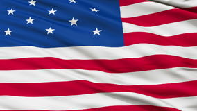 13 Stars USA Close Up Waving Flag stock footage