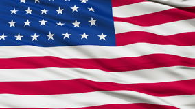 31 Stars USA Close Up Waving Flag. 31 Stars United States of America Flag, Close Up Realistic 3D Animation, Seamless Loop - 10 Seconds Long stock video footage