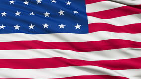 23 Stars USA Close Up Waving Flag. 23 Stars United States of America Flag, Close Up Realistic 3D Animation, Seamless Loop - 10 Seconds Long stock video footage