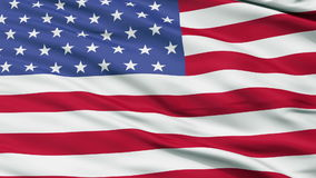 52 Stars USA Close Up Waving Flag stock footage