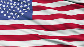 51 Stars USA Close Up Waving Flag. 51 Stars United States of America Flag, Close Up Realistic 3D Animation, Seamless Loop - 10 Seconds Long stock video footage
