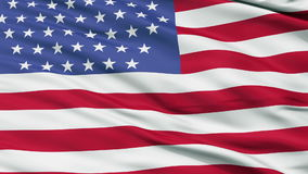 51 Stars USA Close Up Waving Flag stock footage
