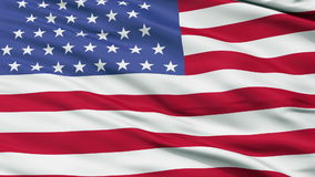 54 Stars USA Close Up Waving Flag stock video footage