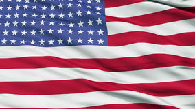 96 Stars USA Close Up Waving Flag stock video footage