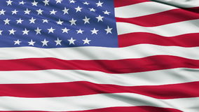 55 Stars USA Close Up Waving Flag. 55 Stars United States of America Flag, Close Up Realistic 3D Animation, Seamless Loop - 10 Seconds Long stock footage