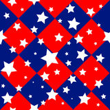 Stars USA Flag Diamond Chessboard Background Royalty Free Stock Image