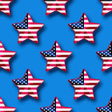 Stars with USA flag seamless pattern. Vector illustration of stars with USA flag seamless pattern Royalty Free Stock Image