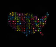 Stars USA Map 1 Stock Photo