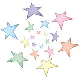 Stars (vector) Royalty Free Stock Image