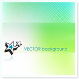 Stars on Vector Background Stock Photography