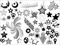 Stars Vector Elements Royalty Free Stock Image