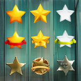 Stars vector icons Stock Photo