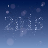 2015 from stars. Vector Illustration Stock Image