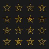 Stars vector set. Stock Image