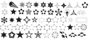 Stars Vectors Royalty Free Stock Photos