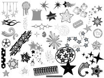 Stars Vectors Designs Royalty Free Stock Image