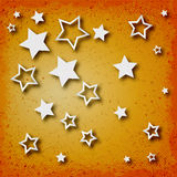 Stars on vintage grunge background Stock Images