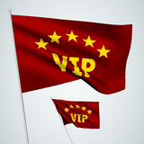 5 stars VIP - red vector flags Royalty Free Stock Photography
