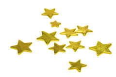 Stars on white Royalty Free Stock Images