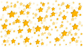 Stars White Background. 3D yellow stars on white background with vector file Stock Photo