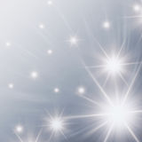 Stars with white lights stock illustration