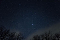 The Stars On Whiteside Mountain Royalty Free Stock Photography