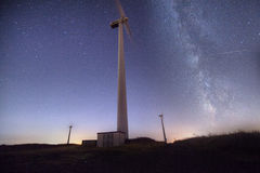 Stars and wind generators stock images