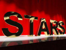 Stars Word On Stage Royalty Free Stock Image