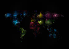 Stars World Map 1 Royalty Free Stock Photography