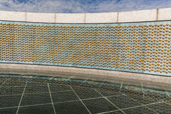 The stars of the WWII Memorial in Washington Stock Image