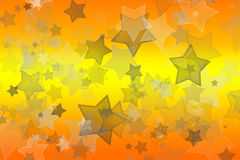 Stars on yellow and orange. Soft stars on a orange and yellow background with a bokeh effect royalty free illustration