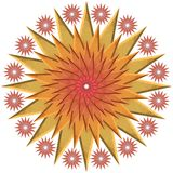 Stars yellow and red. Yellow, orange and red ornamental stars Royalty Free Stock Images
