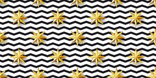 Stars and zizgag pattern Royalty Free Stock Photo