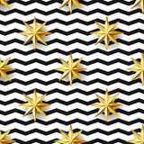 Stars and zizgag seamless pattern Royalty Free Stock Images