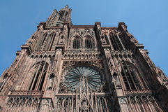 Starsbourg Cathedral. West facade of Strasbourg Cathederal royalty free stock image