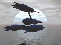 starship самолет-истребителя Стоковые Фотографии RF