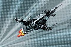 Starship futuriste de bataille d'espace extra-atmosphérique illustration libre de droits