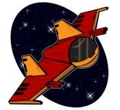 Starship futuristico di combattimento Immagini Stock