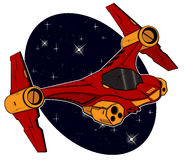Starship futuristico di combattimento Fotografie Stock Libere da Diritti