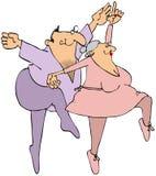 starsi baletniczy tancerze ilustracji