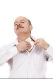Starsi ludzi cierpi od stuffiness i upału fotografia royalty free