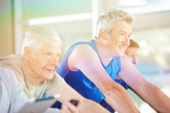 Starsi ludzie ćwiczy dalej Obraz Royalty Free