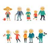 Starsi ludzie Obrazy Royalty Free