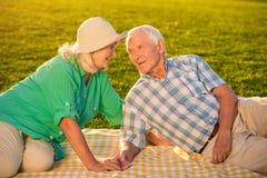 Starsi ludzie na łące Obraz Stock